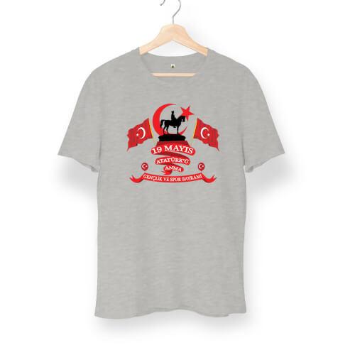 Tisho - 19 Mayıs Atatürk'ü Anma Tasarımlı Unisex Tişört