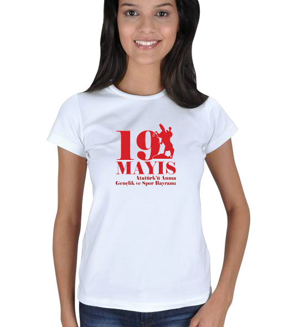 Ms Art Tasarım - 19 MAYIS Kadın Tişört