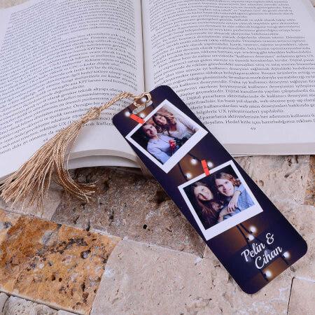 2 Fotoğraflı Kitap Ayracı