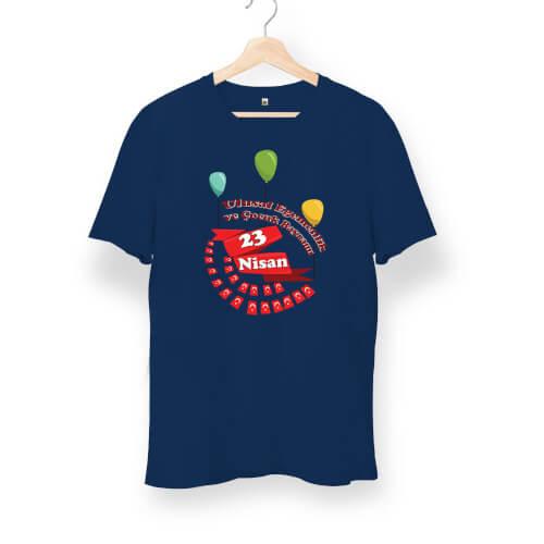 23 Nisan Çocuk Bayramı Tasarımlı Unisex Kısa Kol Tişört - Thumbnail