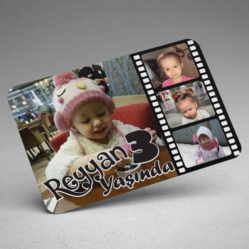 4 Fotoğraflı Doğum Günü Magneti