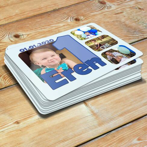 4 Fotoğraflı Erkek Bebek 1 Yaşında Magneti