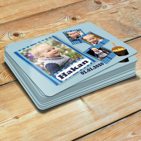 - 4 Fotoğraflı Erkek Çocuk Doğum Günü Magneti