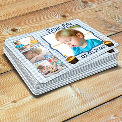 Tisho - 4 Fotoğraflı Erkek Çocuk Doğum Günü Magneti