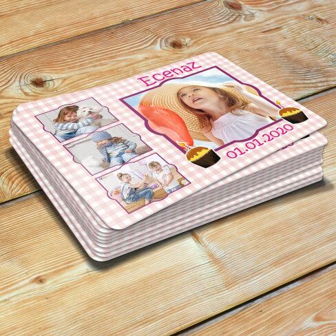 Tisho - 4 Fotoğraflı Kız Çocuk Doğum Günü Magneti