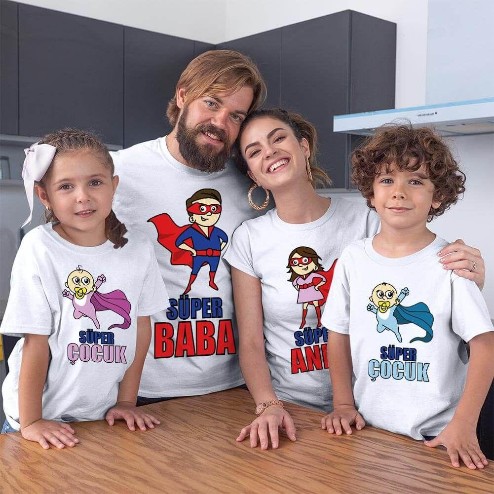 Süper Aile Tişört Kombini