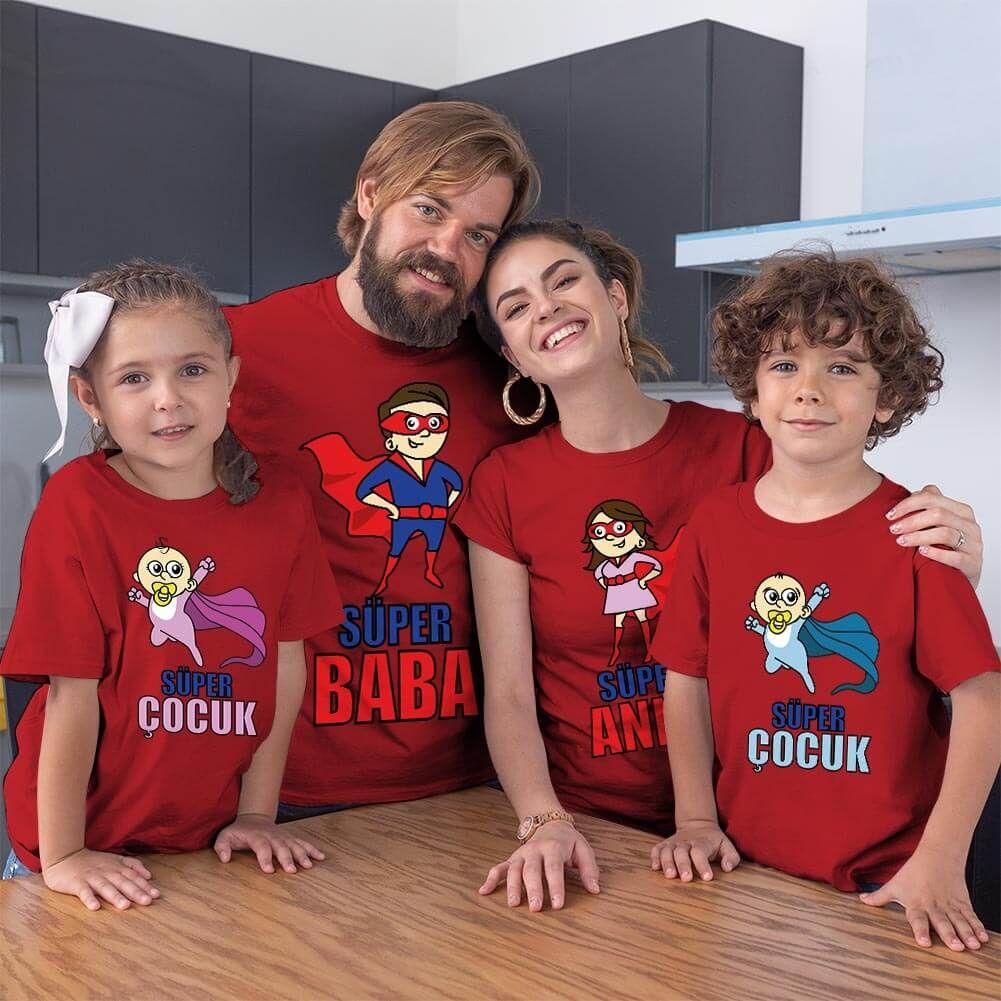 Süper Aile Tişört Kombini (1)