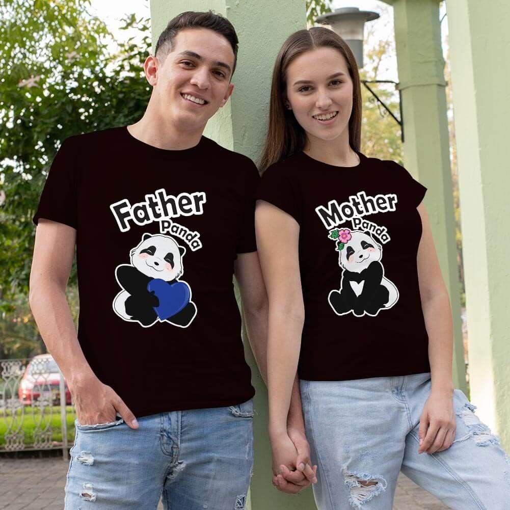 Sevimli Panda Sevgili Tişört Kombini