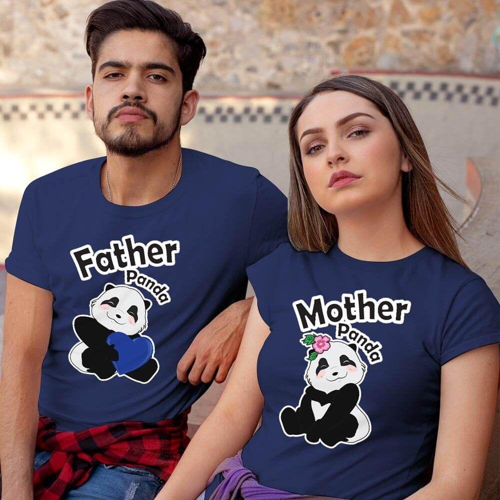 Sevimli Panda Sevgili Tişört Kombini (1)