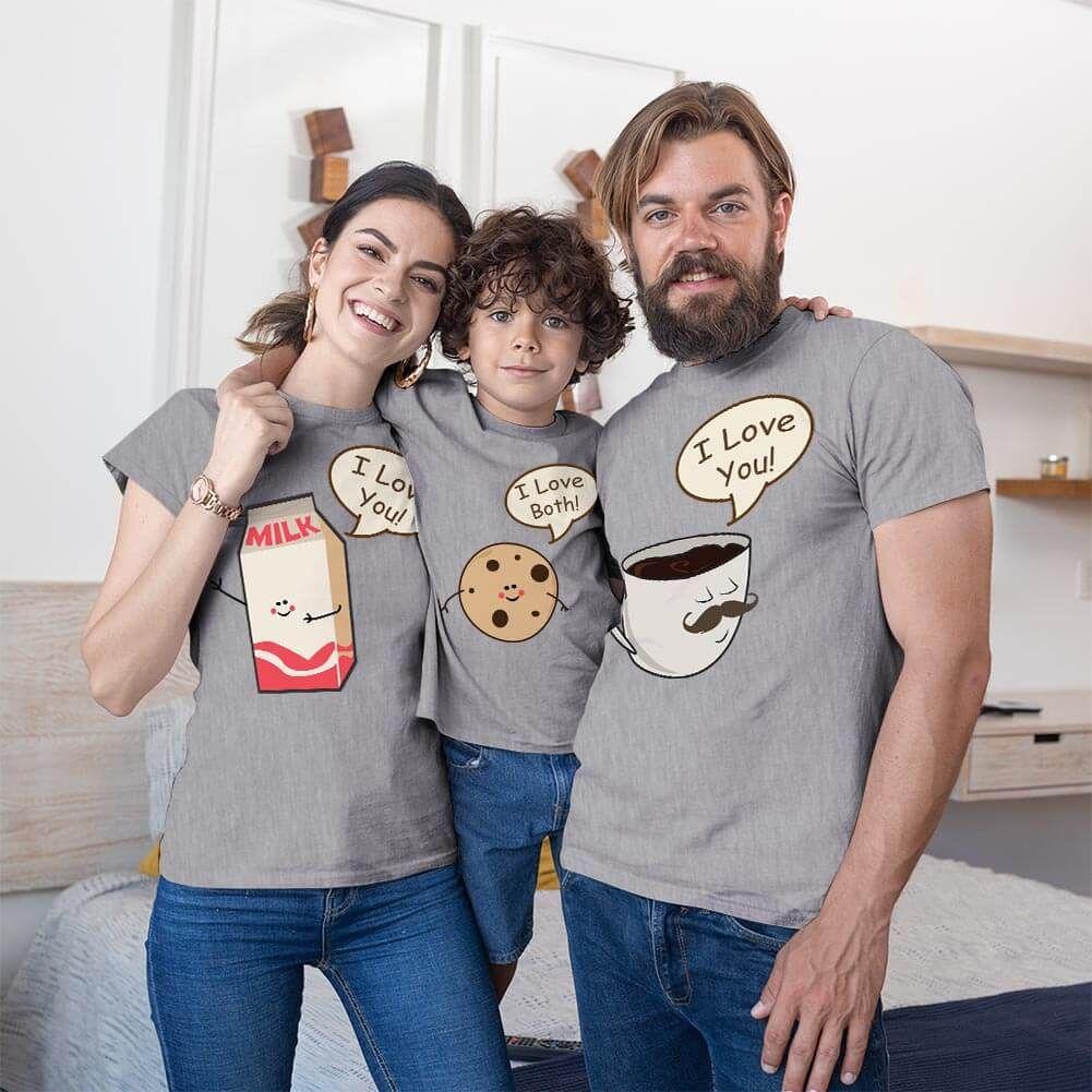 Muhteşem 3'lü Anne Baba ve Erkek Çocuk Tişört Kombini