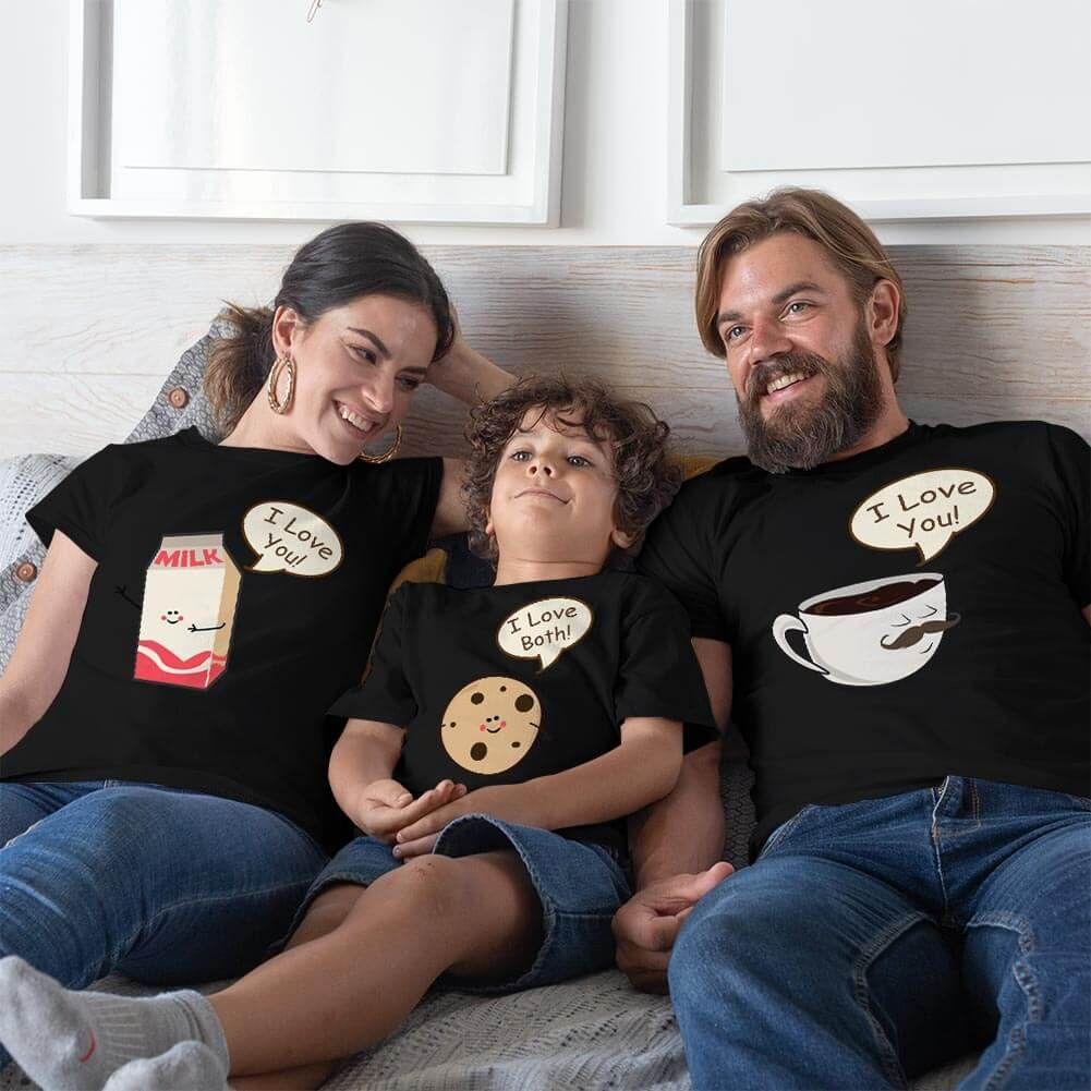 Muhteşem 3'lü Anne Baba ve Erkek Çocuk Tişört Kombini (1)
