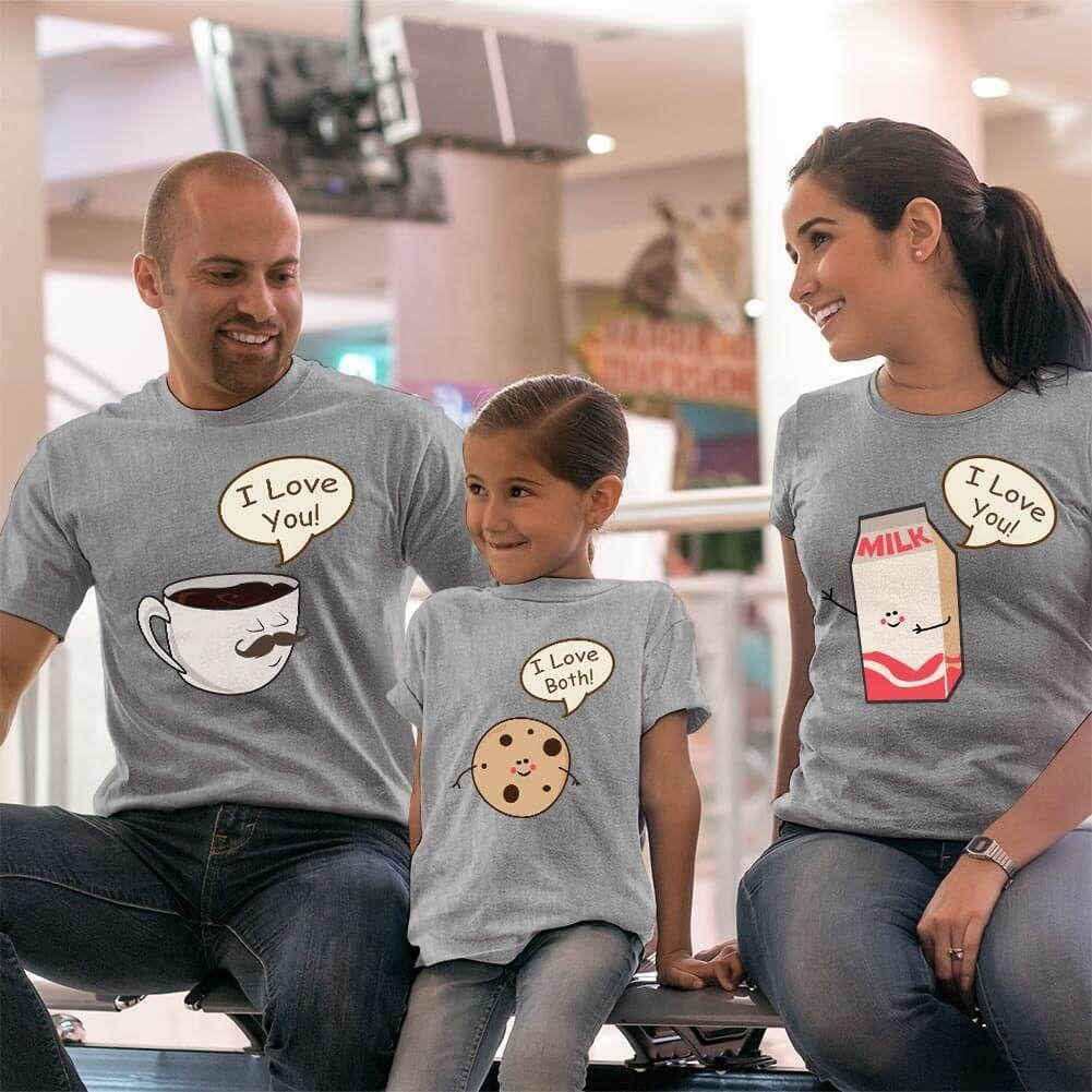 Muhteşem 3'lü Anne Baba ve Kız Çocuk Tişört Kombini