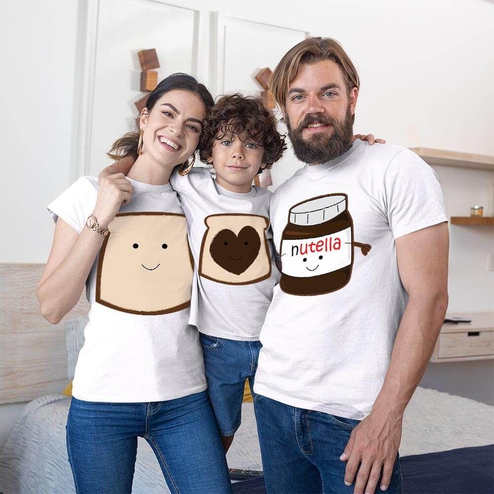 Nutella Anne Baba ve Erkek Çocuk Tişört Kombini