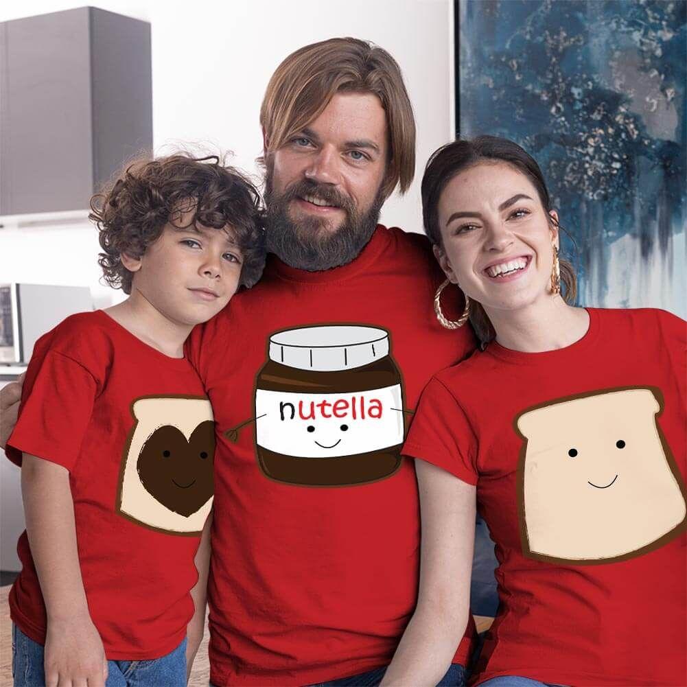 Nutella Anne Baba ve Erkek Çocuk Tişört Kombini (1)