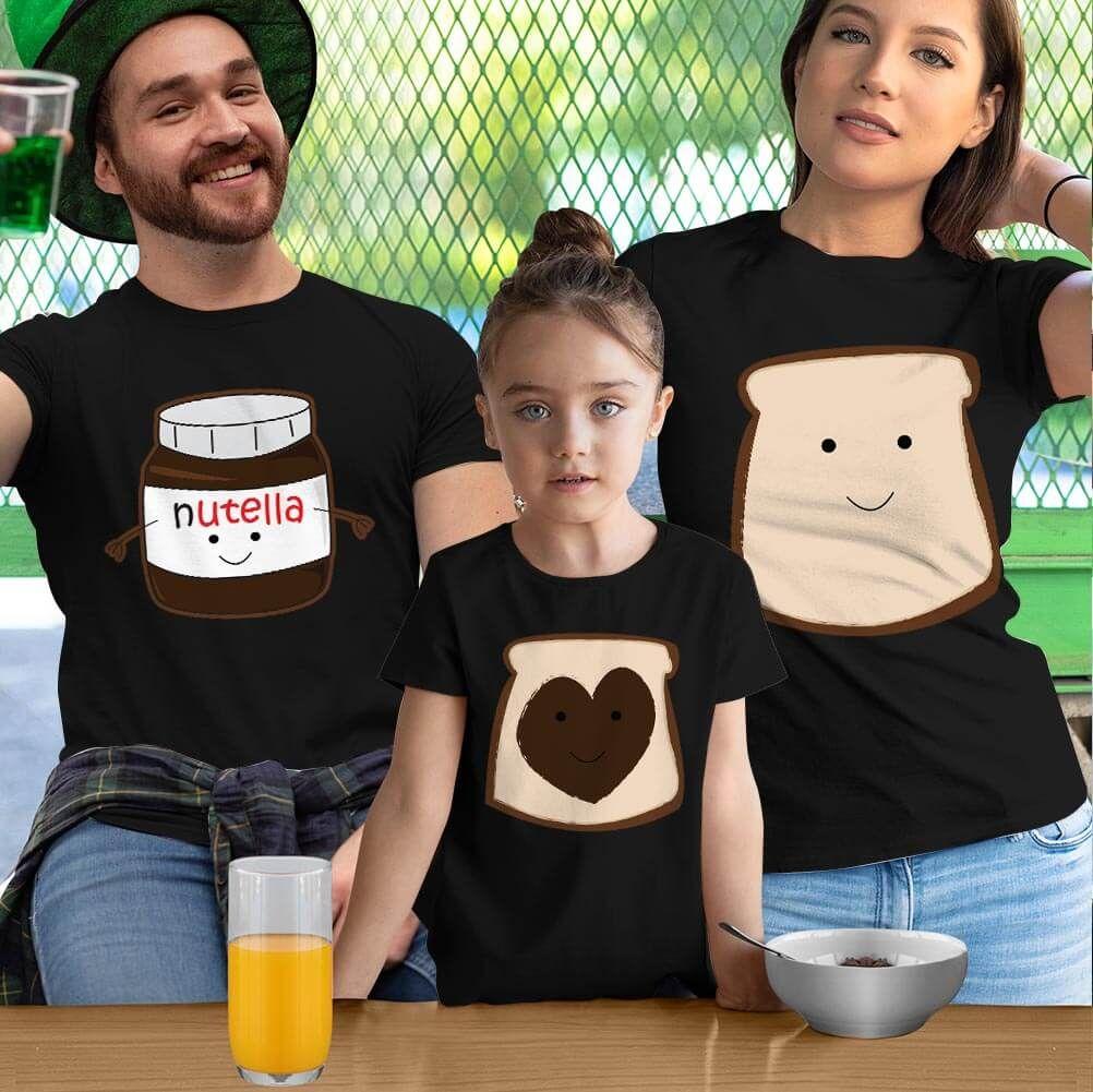 Nutella Anne Baba ve Kız Çocuk Tişört Kombini (1)