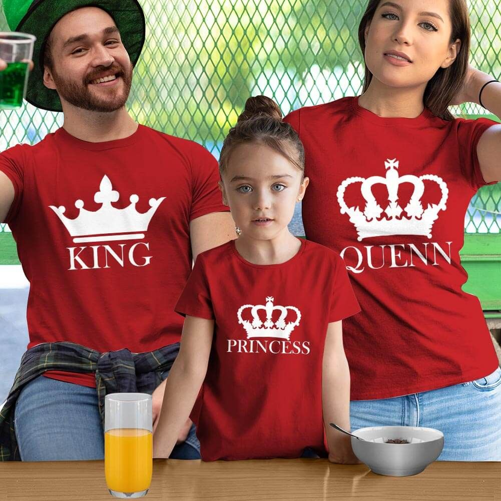 King Queen ve Princess Tişört Kombini