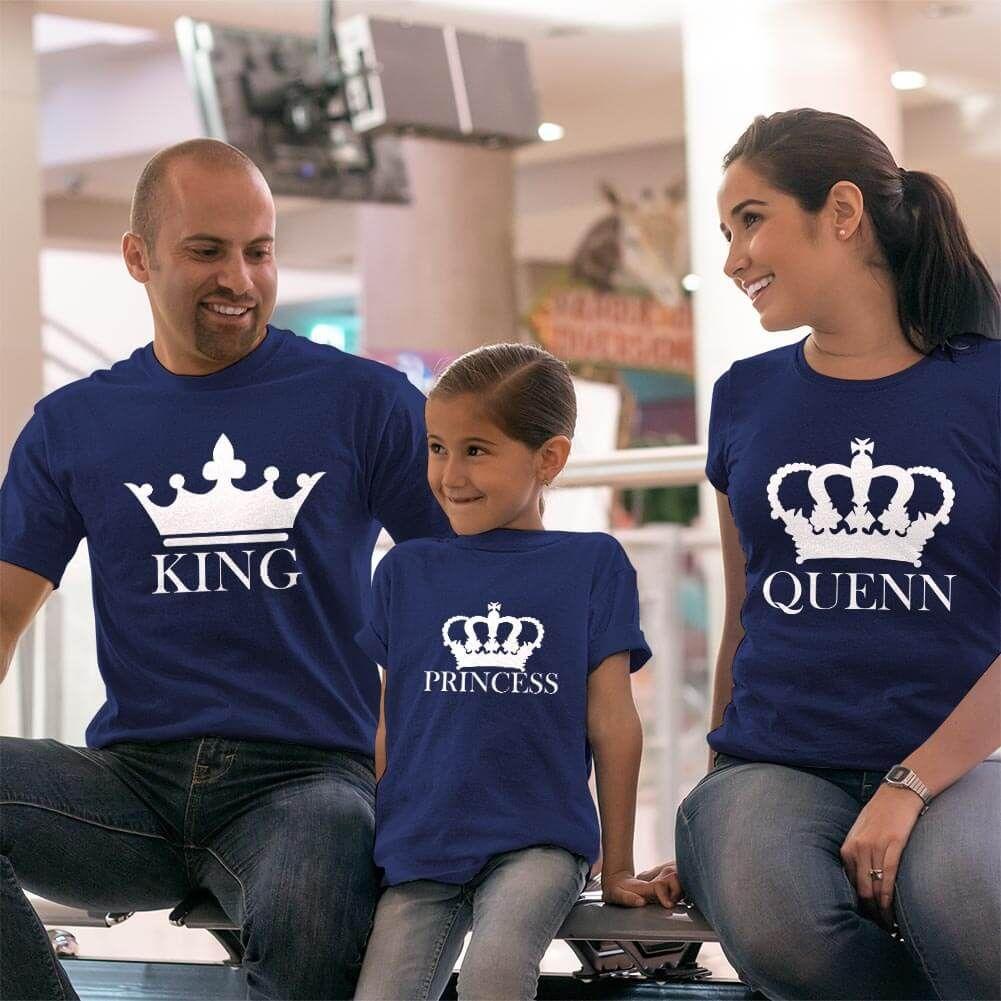 King Queen ve Princess Tişört Kombini (1)