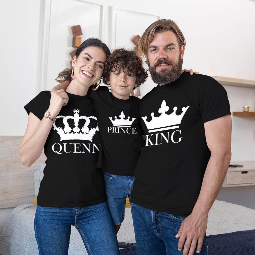 King Queen ve Prince Tişört Kombini (1)