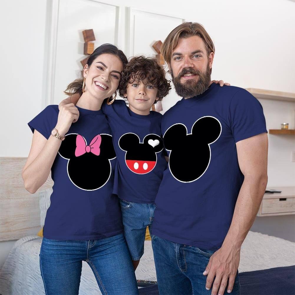 Mickey ve Minnie Mouse Anne Baba ve Erkek Çocuk Tişört Kombini (1)