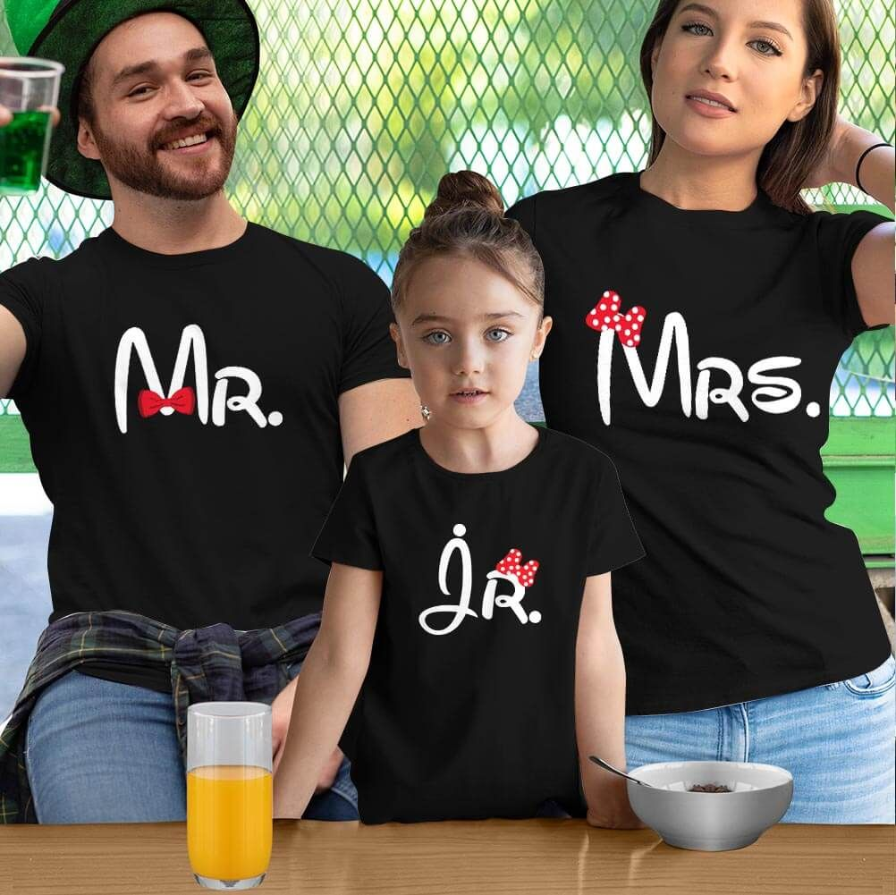 Mr. Mrs.and Jr Anne Baba Kız Çocuk Kombini