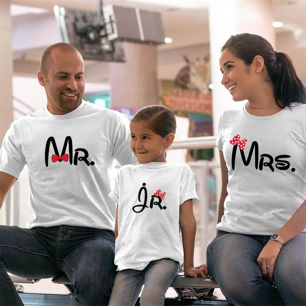 Mr. Mrs.and Jr Anne Baba Kız Çocuk Kombini (1)