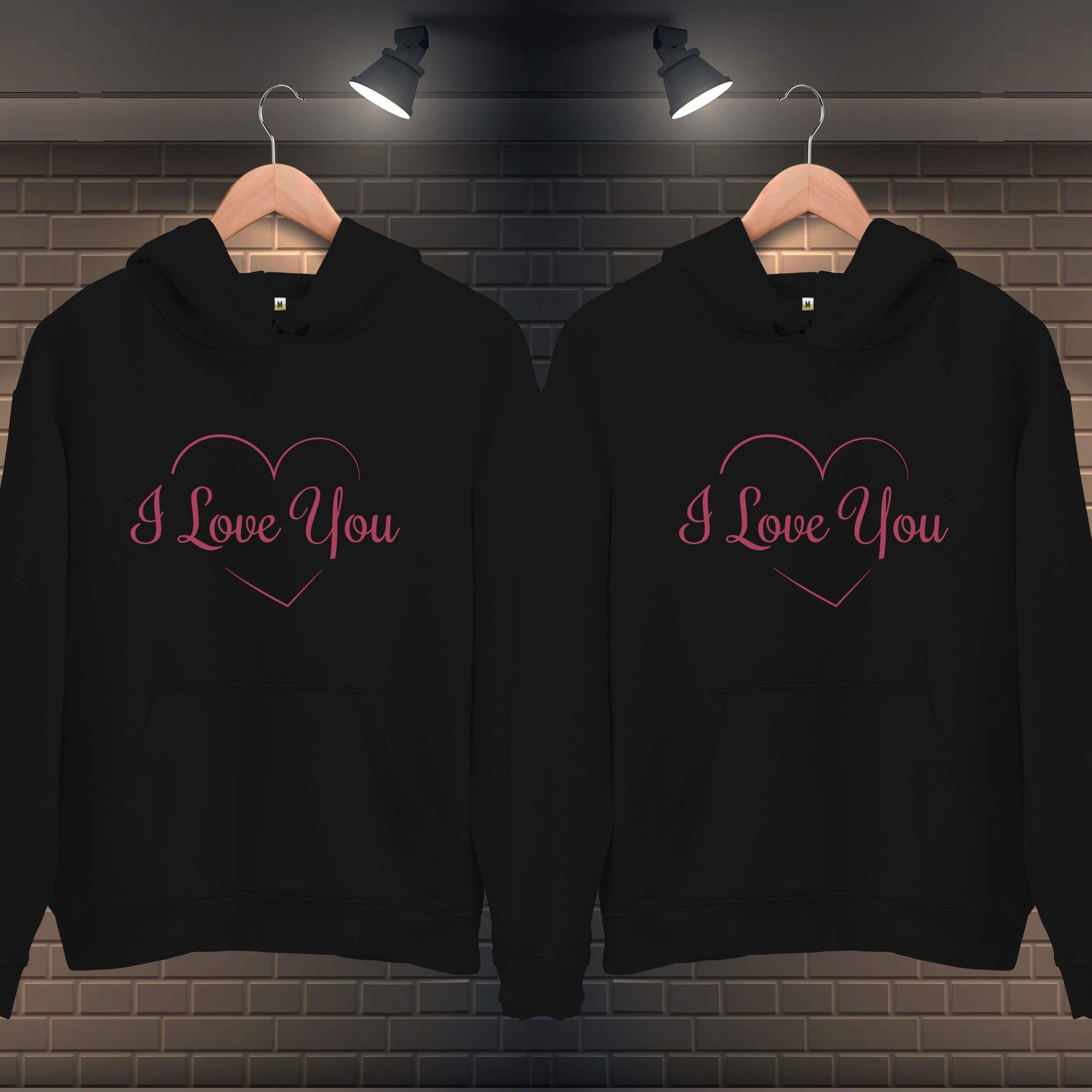 Seni Seviyorum Kapüşonlu Sevgili Kombini (1)