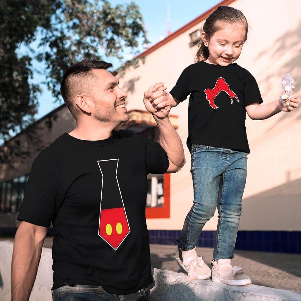 Disney Temalı Baba ve Kız Çocuk Kombini