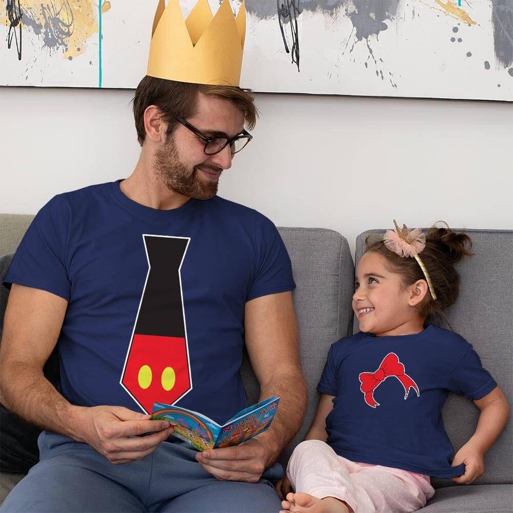Disney Temalı Baba ve Kız Çocuk Kombini (1)