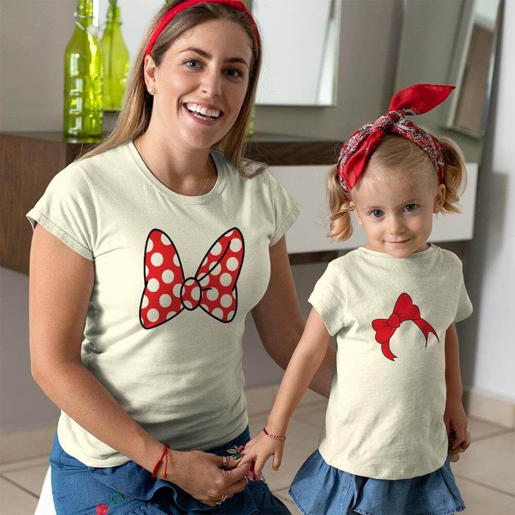 Disney Temalı Anne ve Kız Çocuk Kombini