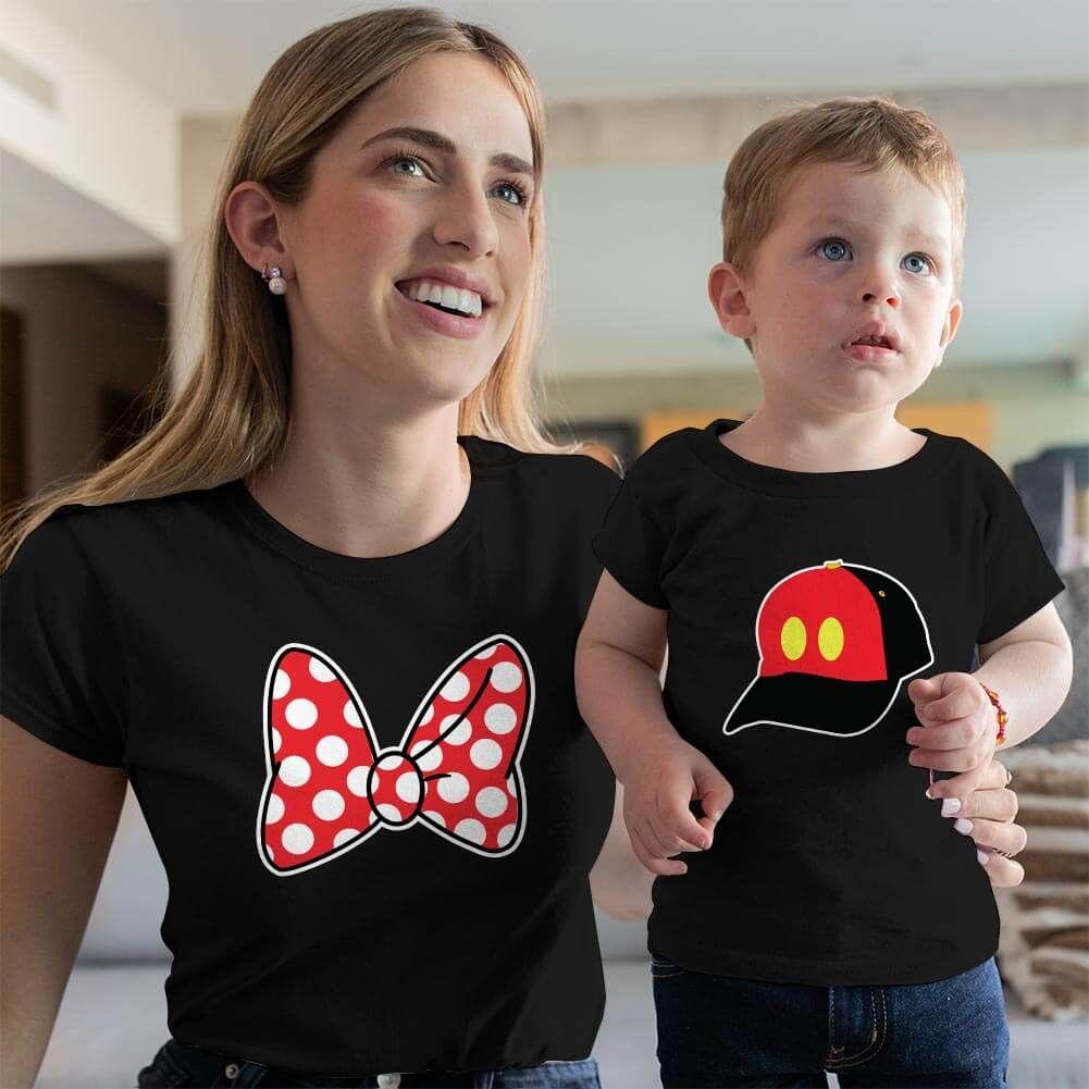 Disney Temalı Anne ve Erkek Çocuk Kombini