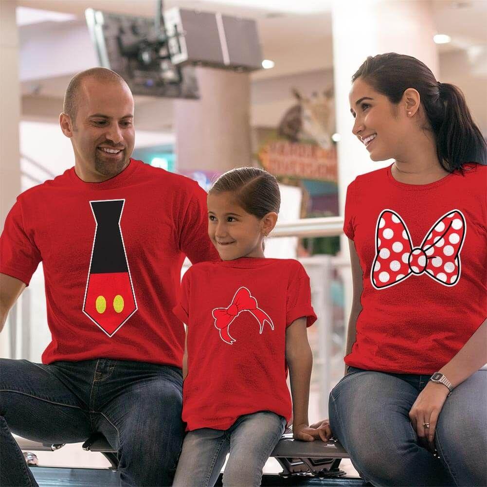 Disney Temalı Anne Baba ve Kız Çocuk Kombini (1)