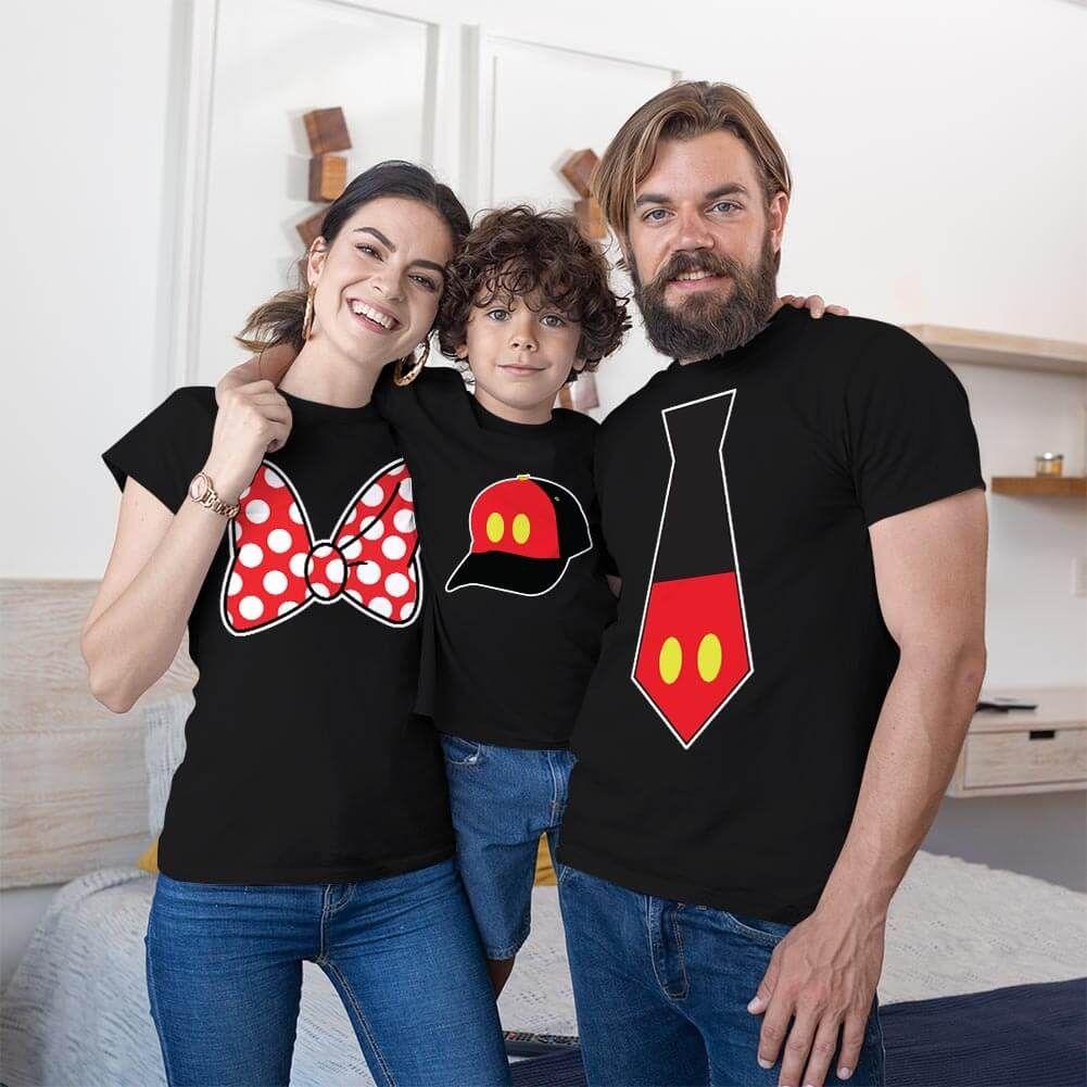 Disney Temalı Anne Baba ve Erkek Çocuk Kombini (1)