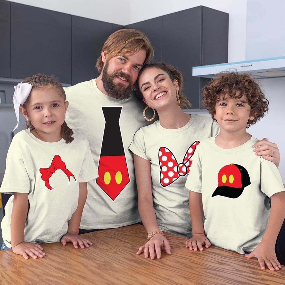 Disney Temalı Anne Baba ve Çocuk Kombini