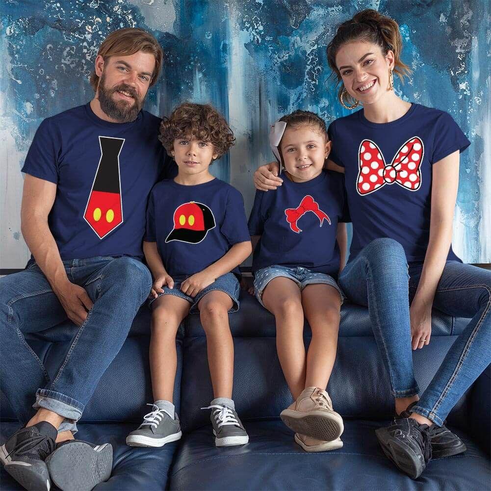 Disney Temalı Anne Baba ve Çocuk Kombini (1)