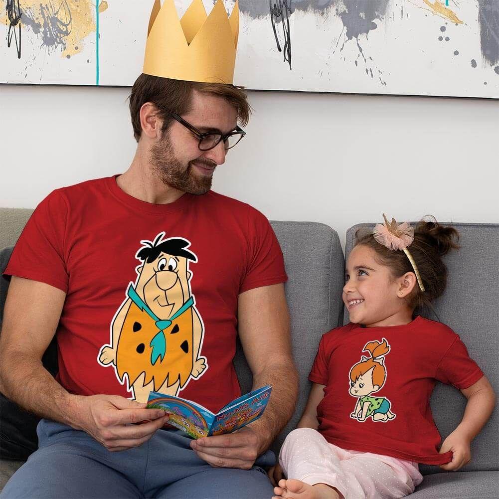 Çakmaktaş Ailesi Baba Kız Çocuk Kombini