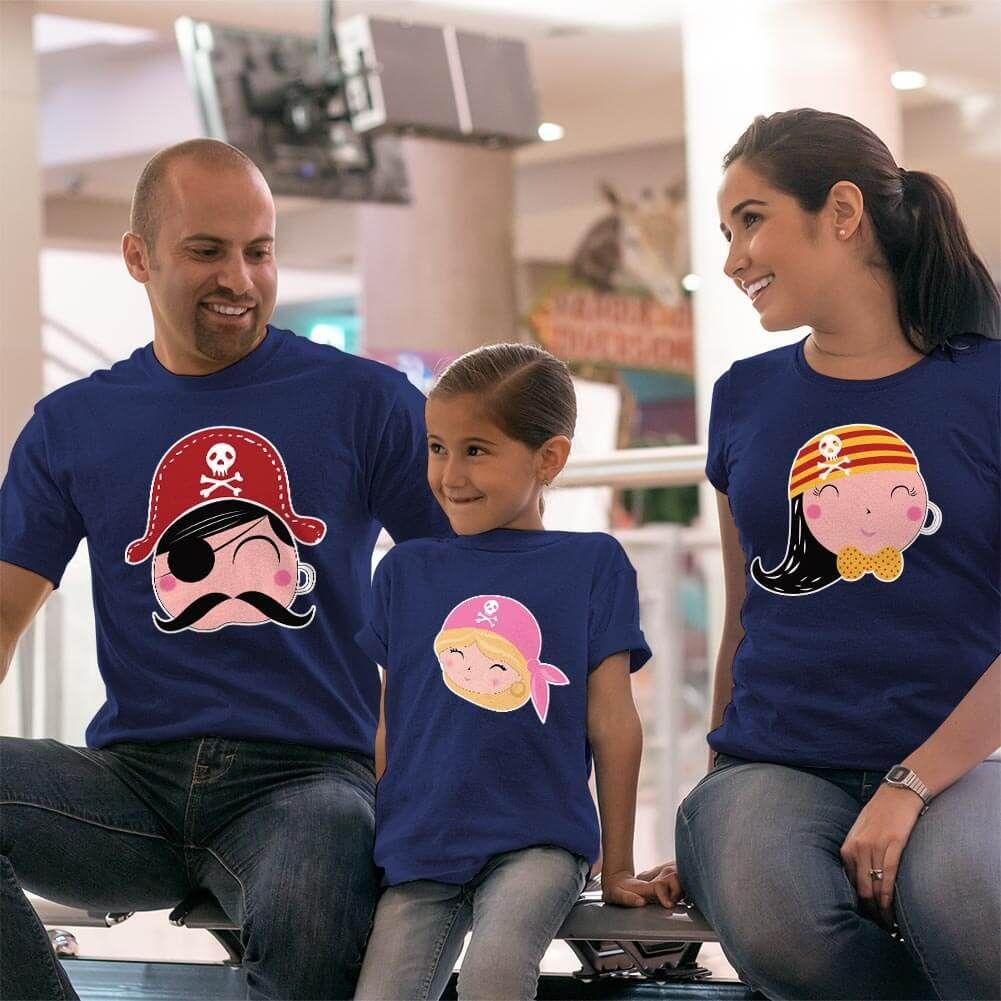 Korsan Anne Baba Kız Çocuk Kombini