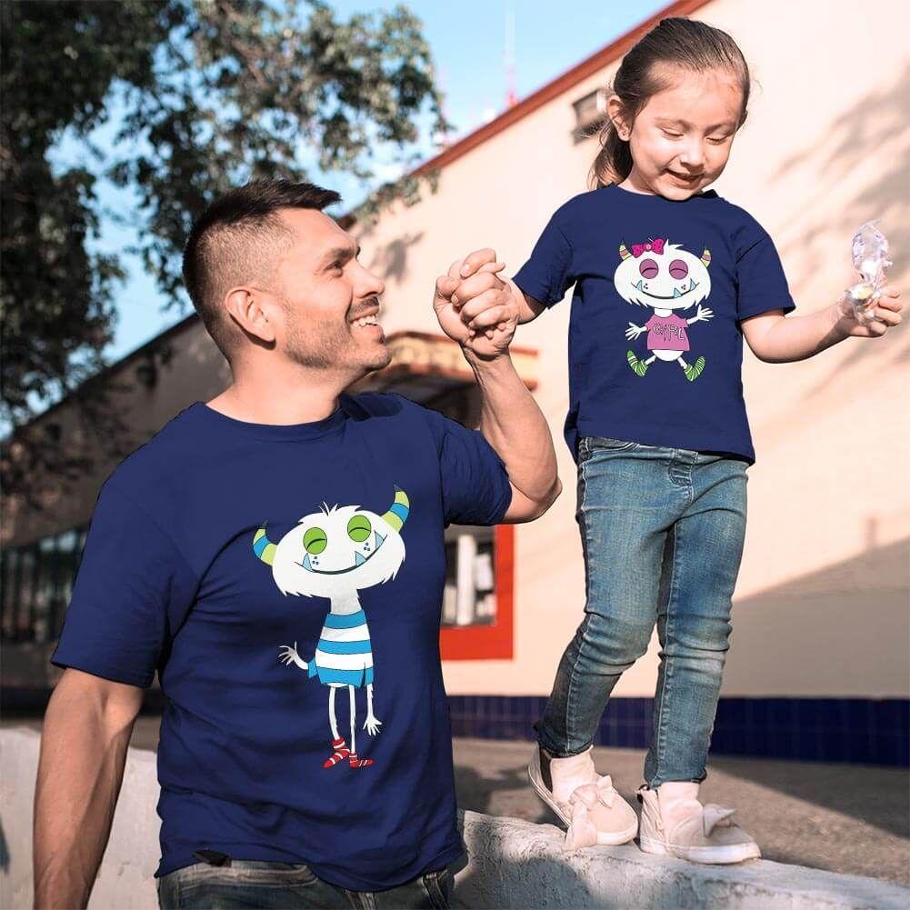 Sevimli Canavar Baba Kız Çocuk Kombini (1)