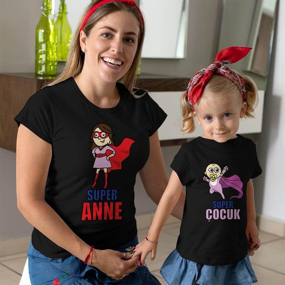 Süper Anne ve Kız Çocuk Kombini