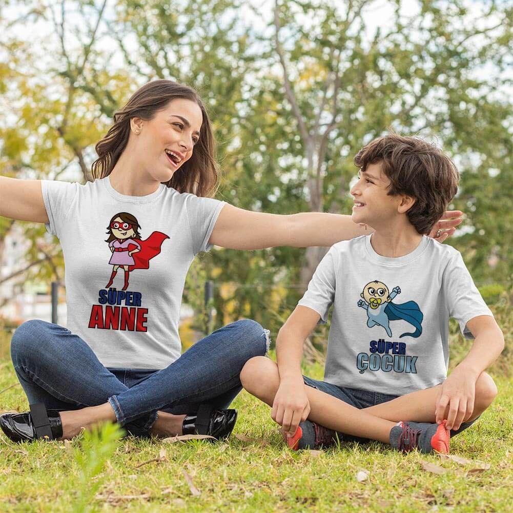 Süper Anne ve Erkek Çocuk Kombini