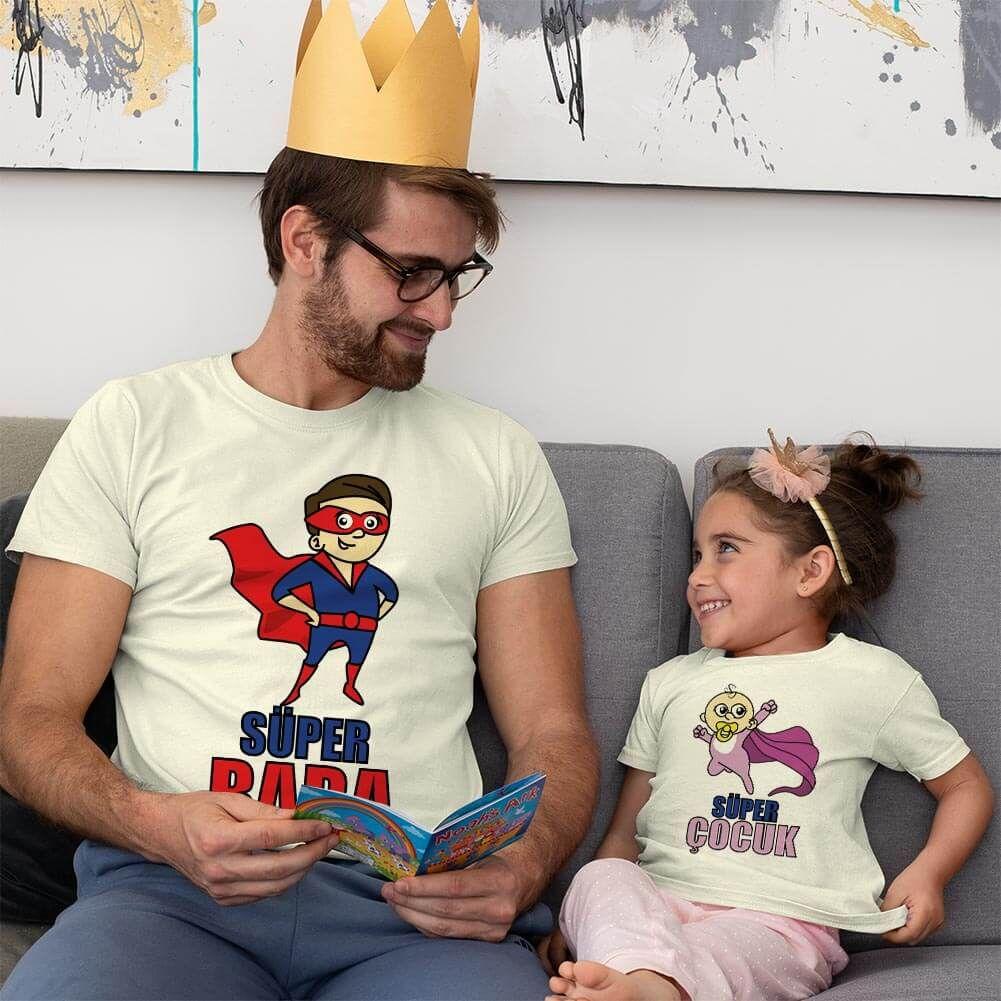 Süper Baba ve Kız Çocuk Kombini