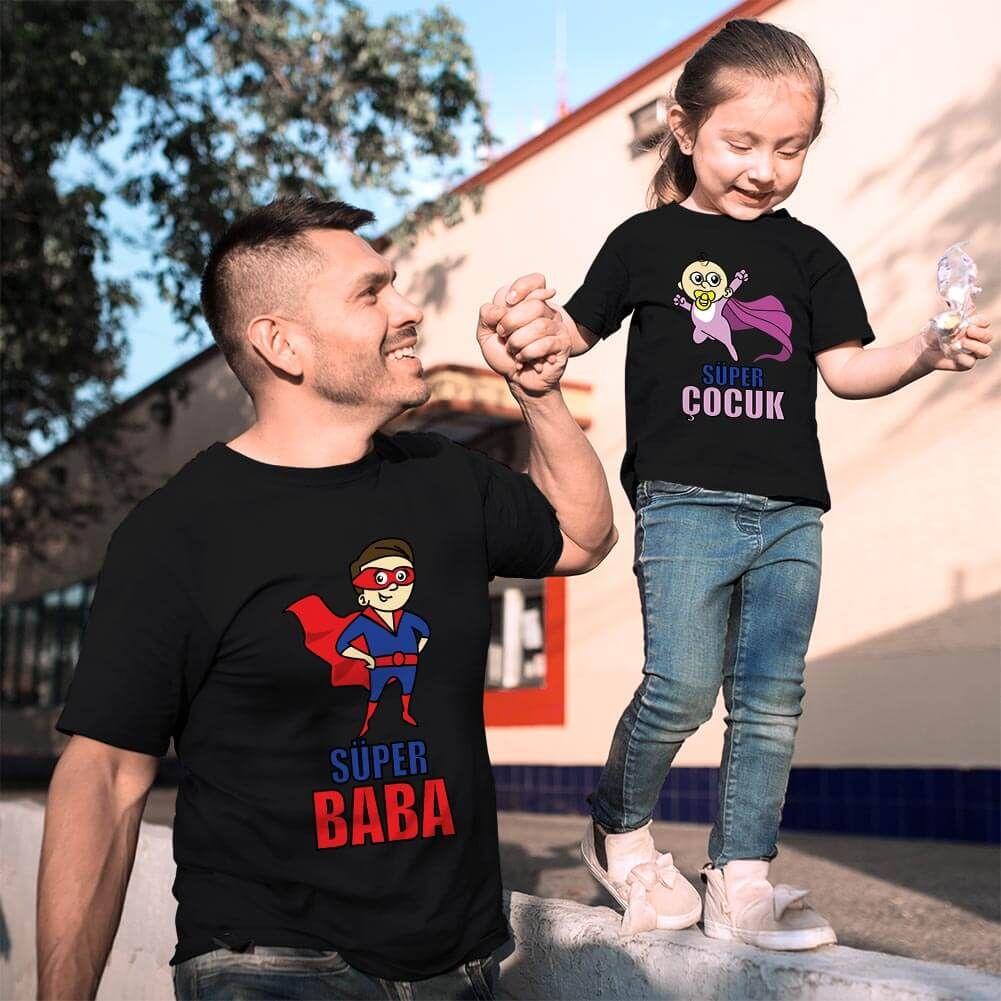 Süper Baba ve Kız Çocuk Kombini (1)