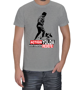 BUDUR GİYİM - Açtığın Yolda Gösterdiğin Hedefe Erkek Tişört