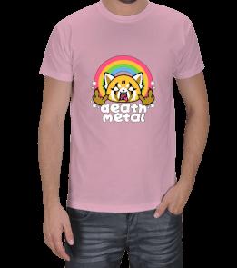 BilimNeGuzelLan - Aggretsuko Death Metal Erkek Tişört