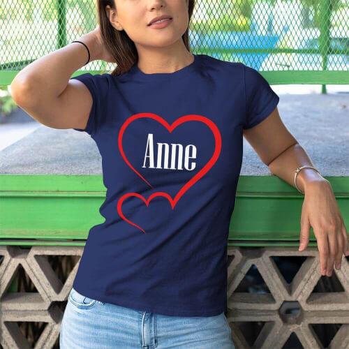 Aile Sevgisi Kadın Kısa Kol Tişört - Tekli Kombin - Thumbnail