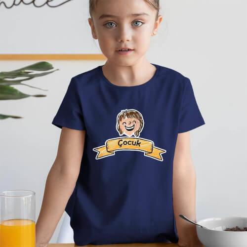 Tisho - Aile Temalı Kız Çocuk Tişört - Tekli Kombin