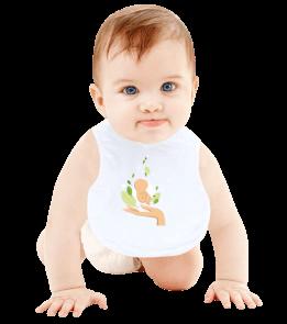 hediyeburada - Anne Eli Bebek Mama Önlüğü