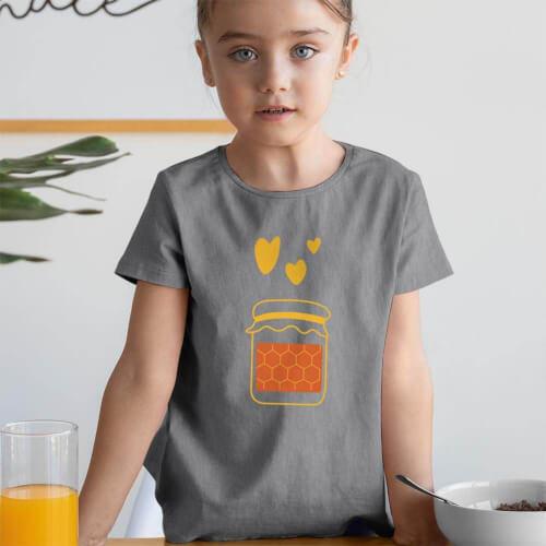 Tisho - Arım Balım Kız Çocuk Kısa Kol Tişört - Tekli Kombin