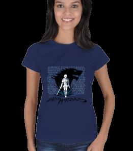 Metal Tee - Arya Stark Lacivert Kadın Tişört