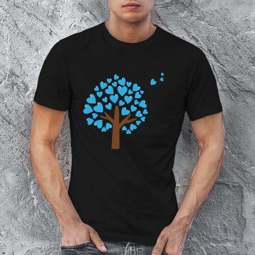Tisho - Aşk Ağacı Erkek Kısa Kol Tişört - Tekli Kombin