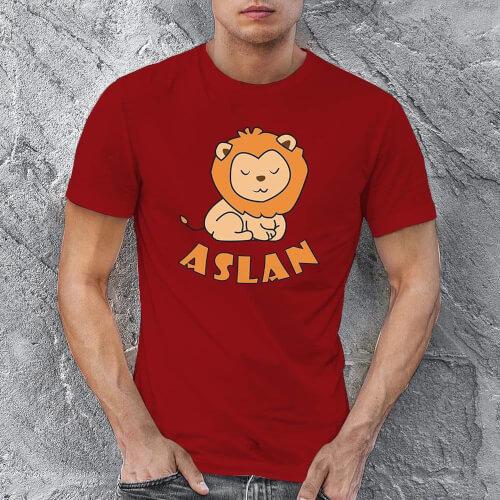 Tisho - Aslan Erkek Tişört - Tekli Kombin